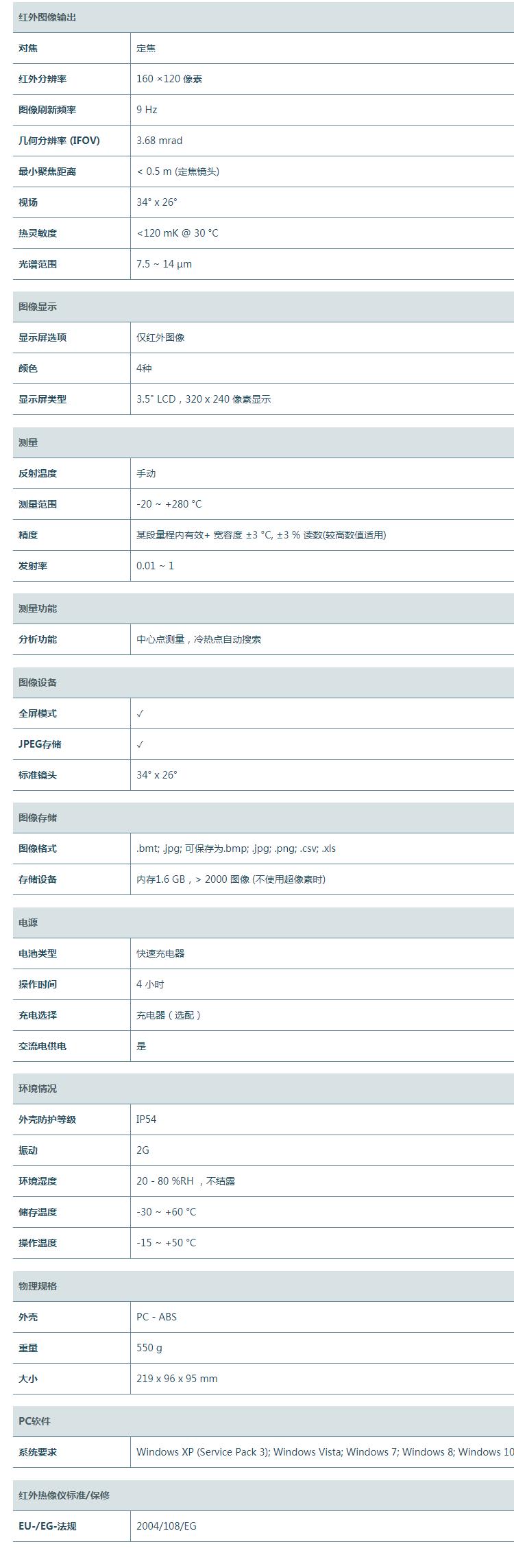 德图 红外热像仪testo 869