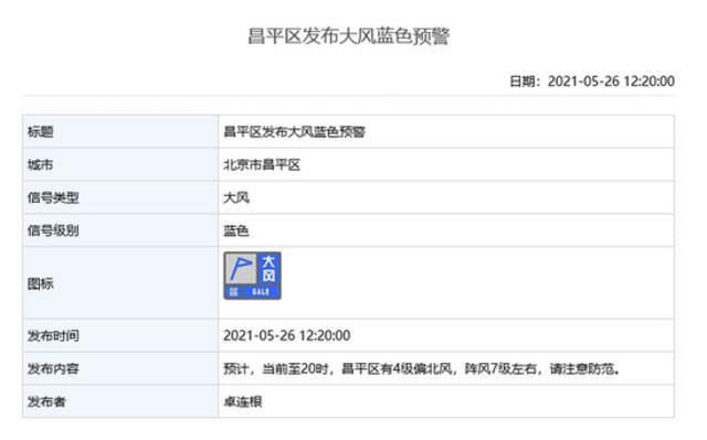 雷电+大风!北京多区发布雷电蓝色预警和大风蓝色预警插图8