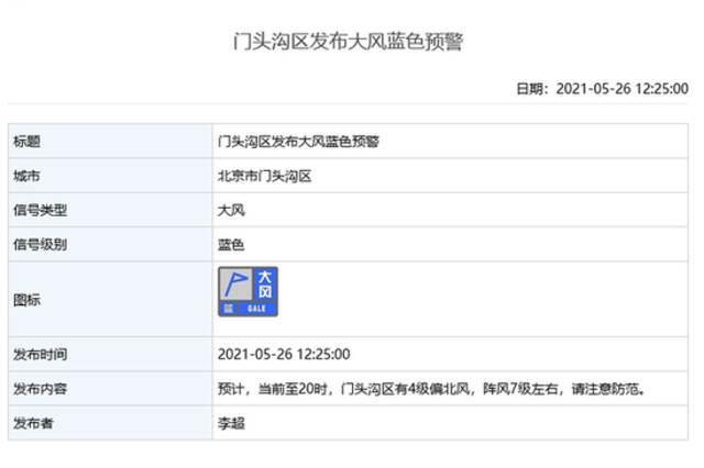 雷电+大风!北京多区发布雷电蓝色预警和大风蓝色预警插图6