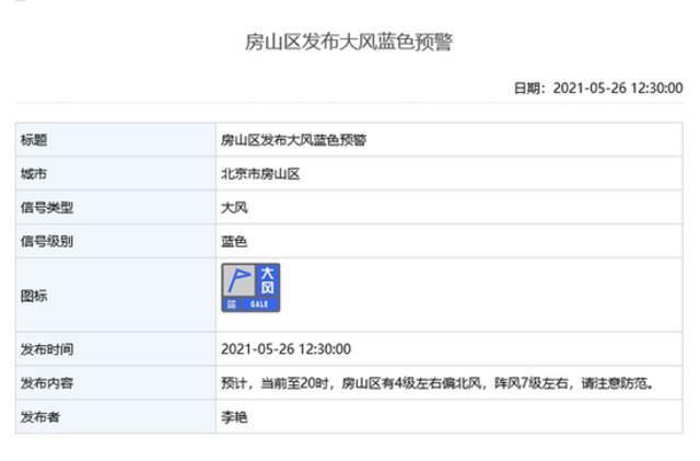雷电+大风!北京多区发布雷电蓝色预警和大风蓝色预警插图4