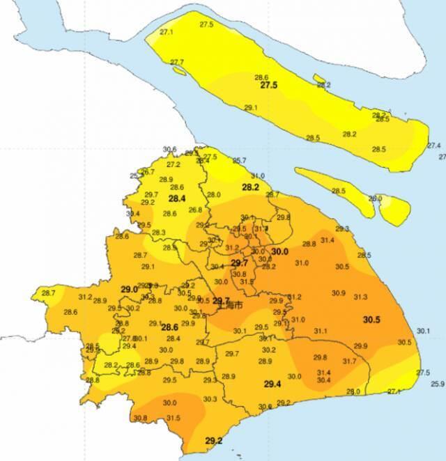 浮尘已近 上海明日最高温可达31℃!插图